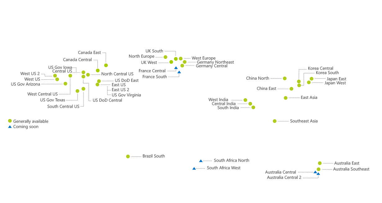 Microsoft Azure Global Data Centers